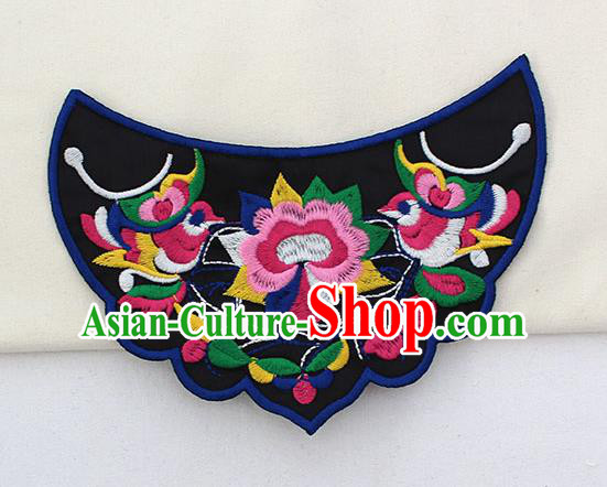 Chinese Ancient Handmade Embroidered Birds Patch Traditional Embroidery Appliqu Craft for Women