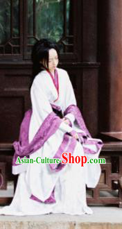 Chinese Traditional Cosplay Fairy Imperial Consort White Dress Custom Ancient Swordswoman Princess Costume for Women