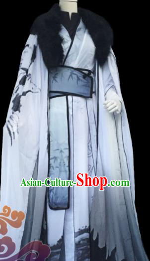 Custom Chinese Ancient Cosplay Taoist Priest Clothing Traditional Swordsman Royal Highness Costume for Men