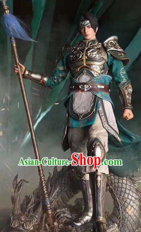 Chinese Ancient Cosplay General Armor and Helmet Traditional Military Officer Costumes Complete Set for Men